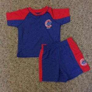 Chicago Cubs T & Shorts 12-18 month